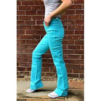 Pitkä jalka bootcut farkut venyttää denim levenevä housut