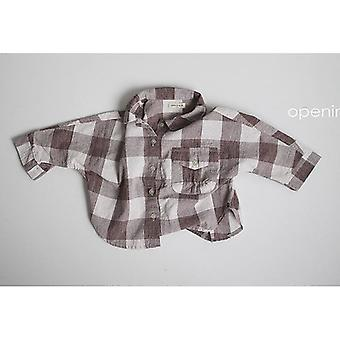 Autumn Baby Plaid Shirt Tops Full Sleeve Blouse Kids Long Sleeve Jumper Clothes
