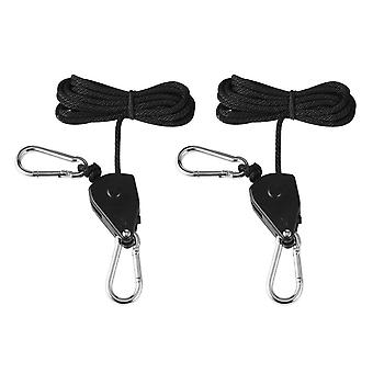 150lbs Charge 1/8 Grow Light Rope Ratchet Lights Lifters Reflector Hangers