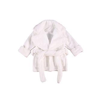 طفل طفل Unisex حمام خريف الشتاء سميكة طويلة الأكمام الفانيلا روب لينة كيمونو ملابس النوم المنزل مع جيب الحزام