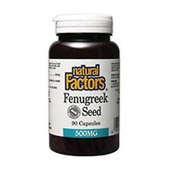Natuurlijke factoren Fenegriek Zaad, 500 mg, 90 Caps