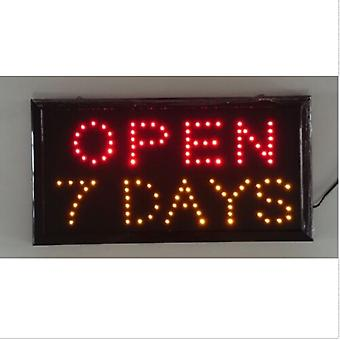 Neon Lights Led Open 7 Days Sign Customers Attractive Sign Store Shop Sign