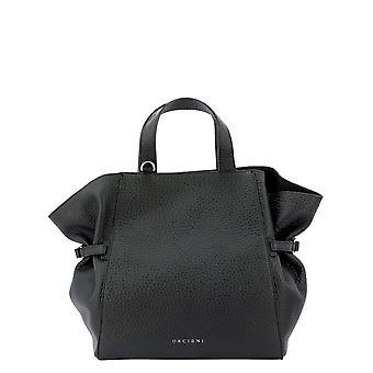 Orciani B02067softnero Women's Black Leather Handbag