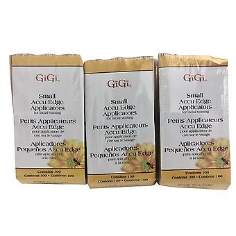 GiGi Small Accu Edge Applicators for Facial Waxing 100 CT Pack of 3
