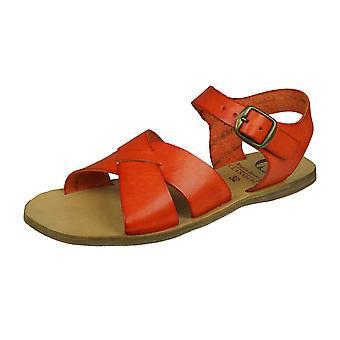 Angela Brown Brogan Flickor Läder Sandaler - Orange