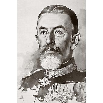 Carol I 1839 1914 Nato principe Karl di Hohenzollern-Sigmaringen Principe regnante e quindi re di Romania dal 1866 al 1914 da PosterPrint La Esfera 1914