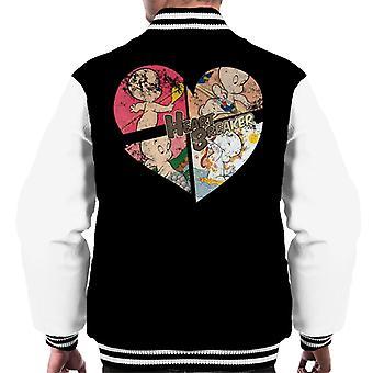 Casper The Friendly Ghost Heart Breaker Men's Varsity Jacket