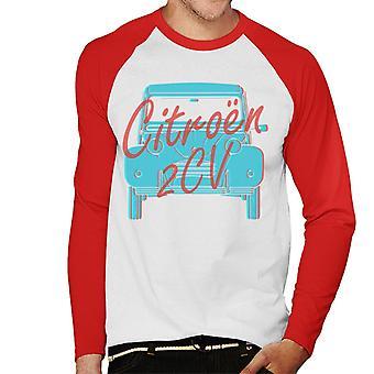 Citro n 2CV Graafinen tyyli Miesten's Baseball Pitkähihainen T-paita