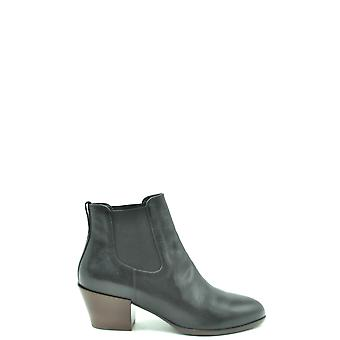 Hogan Ezbc030239 Women's Black Leather Ankle Boots