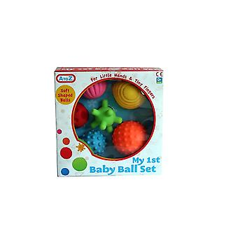 6 Pcs My First Baby Multi Textured Soft Ball Set