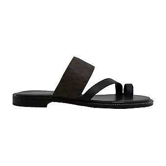Michael Kors Femmes Pratt Flat Open Toe Casual Slide Sandals