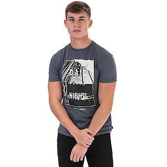 Men's Armani Grafik Logo T-Shirt in blau