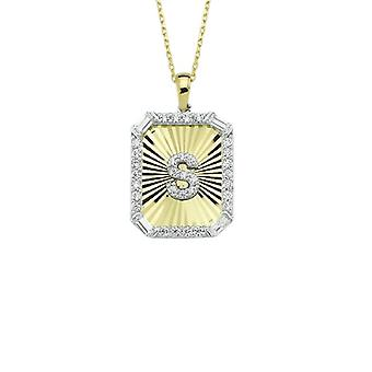 Buchstabe S Gold Halskette