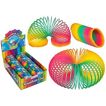 Large 10cm Slinky Spiral Classic Rainbow Colors Stair Spring