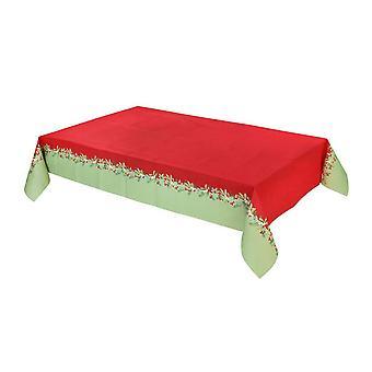 Botanical Berry Christmas Table Cover 180cm x 120cm