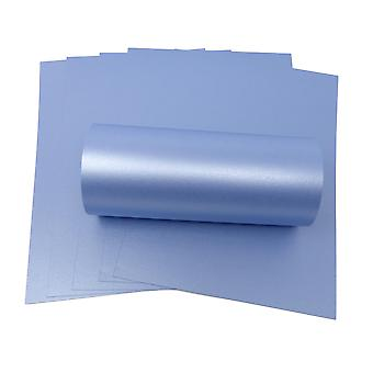 10 Sheets of A4 Maya Blue Pearlescent Double Sided Card 300gsm