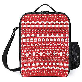 Christmas Decorations Printed Insulated Lunch Box