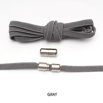 جديد شقة مرنة قفل لا ربطة عنق الأحذية