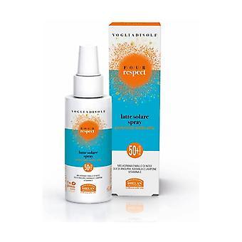 Vogliadisole Respekt - Solmelk Spray Fuktighetsgivende Fløyelsaktig Svært Høy Beskyttelse SPF 50 + 100 ml