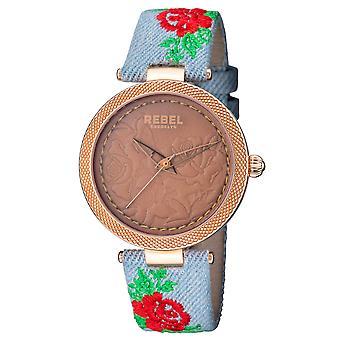 Rebel Women's Carroll Gardens Brown Dial Cloth Watch