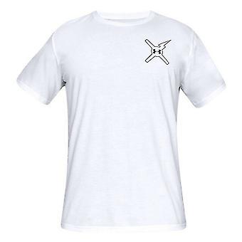 תחת שריון Mens לחכות לאף אחד חולצת טריקו לוגו גרפי העליון לבן 1329601 100