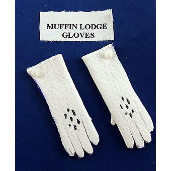 Melodie Jane Puppen Haus Miniatur Puppe Zubehör Viktorianischen Lady Handschuhe In weiß