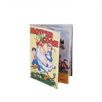 Dolls House Illustrated Children's Story Book 'mother Goose' Nursery Accessory