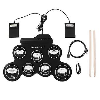 Silicone Slade Electronic Drum Digital Usb Pads Roll Up Set