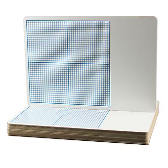 """1/4"""" Graph Dry Erase Board, 11"""" X 16"""", Pack Of 12"""