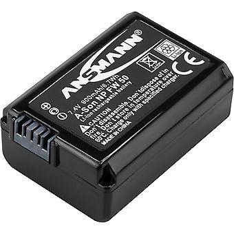 Reposição da bateria da câmera Ansmann li-ion 7.4v para np-fw 50 [pacote de 1] compatível com sony & hasse