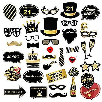 Veewon 21st birthday party photo booth props funny birthday celebration decoration supplies - 35 cou