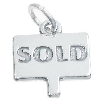 Sold Sign Sterling Silver Charm .925 X 1 Real Estate Agent Charms - 3856