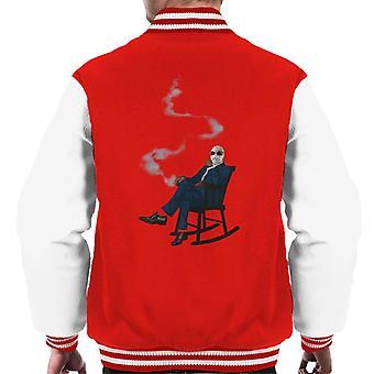 Den osynlige mannen i stol Men's Varsity Jacket