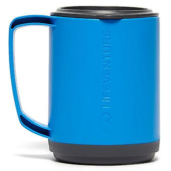 New LIFEVENTURE Ellipse Insulated Mug Camping Cooking Eating Blue