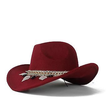 Naiset Wool Hollow Western Cowboy Hattu