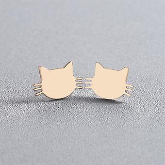 Kulta kissa kasvot nasta korvakorut