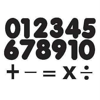"""Die-Cut Magnetic Black Number Set, 1.75"""", 32 Pieces"""