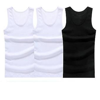 Cotton Solid Seamless, Sleeveless Tank Vest, Comfortable Undershirt