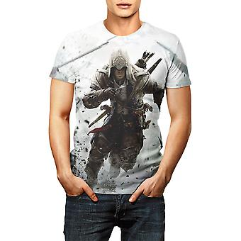 Hommes Femmes Casual Short-sleeved Fashion Assassin's Creed 3d Printed Breathable