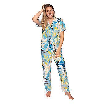Cyberjammies Phoebe 4811 Dames's Blue Floral Modal Pyjama Broek