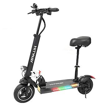 "Scooter eléctrico plegable para adultos, 800W E-Scooter, velocidad máxima 45km / h batería 10Ah, 3 modos de velocidad 10"" neumáticos fuera de carretera, con pantalla LCD inteligente, freno doble"