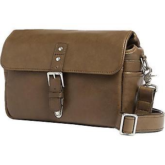 Ona the bowery pebbled leather camera messenger bag, olive