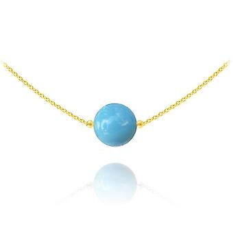 24K gold turquoise choker necklace