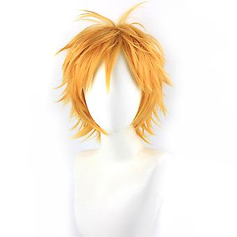 Uzumaki Naruto Perruques Out Curling Cosplay Wig Cap Golden