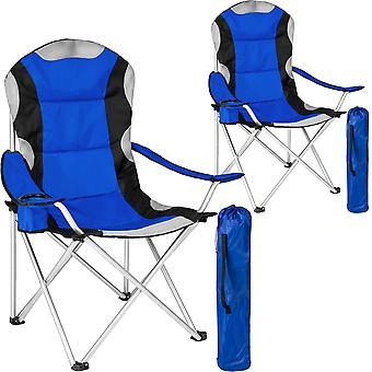 tectake 2 Campingstole polstret - blå