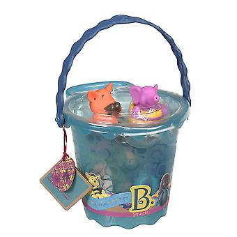 B. jouets Squirts seau de jouets pour le bain