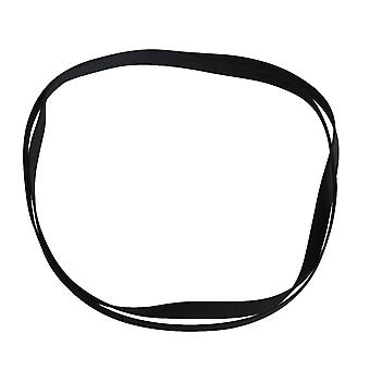 2PCS 0.5mm Thick Black Rubber Turntable Drive Belt for Record Player