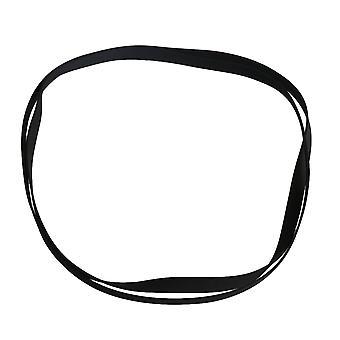2PCS 0.5mm Épais Black Rubber Turntable Drive Belt for Record Player
