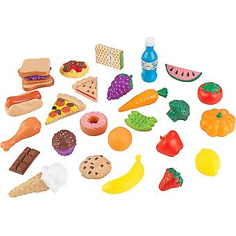 HanFei 63509 30 Spielzeug-Lebensmittel, bunt