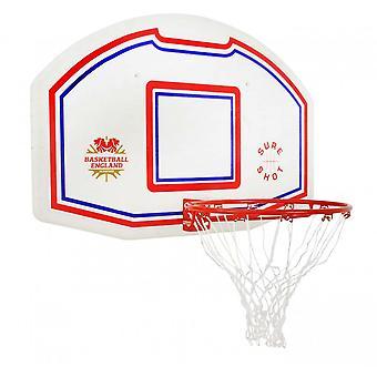 بالتأكيد النار كرة السلة 506 EB اللوح الخلفي وخاتم - شعار كرة السلة انكلترا